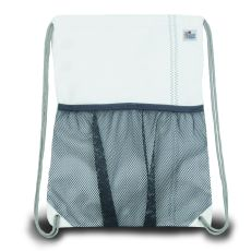 Chesapeake Drawstring Backpack - White And Blue