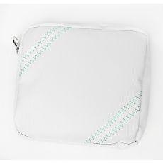 Sailcloth Cabana Accessory Pouch, White with Aqua