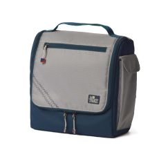 Sailcloth Silver Spinnaker Insulated Soft Lunch Box, Silver with Blue Trim