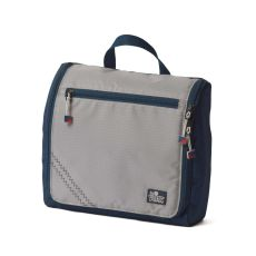 Sailcloth Silver Spinnaker Sundry Bag, Silver with Blue Trim
