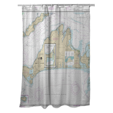 Ma: Martha'S Vineyard, Ma Nautical Chart Shower Curtain