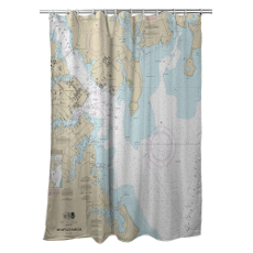 Md: Annapolis Harbor, Md Nautical Chart Shower Curtain