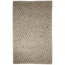Contemporary Tribal Pattern Ivory/Gray Wool Area Rug (9X12)