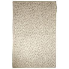 Contemporary Tribal Pattern Ivory/White Wool Area Rug (9X12)