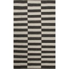 Flatweave Geometric Pattern Ivory/Black  Wool Area Rug (8X10)