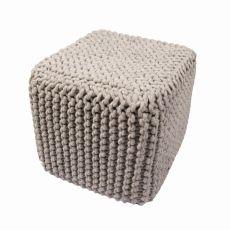 """Gray Wool Pouf (16""""X18""""X18"""")"""