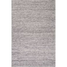 Contemporary Solid Pattern Gray Wool Area Rug (9X12)