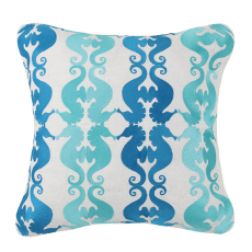 Seahorse Pattern Embroidered Pillow
