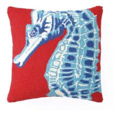 Seahorse Red Hook Pillow