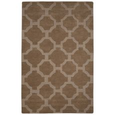 Solids Trellis, Chain And Tile Pattern Tan Wool Area Rug (9X12)