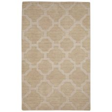 Solids Trellis, Chain And Tile Pattern Orange Wool Area Rug (9X12)
