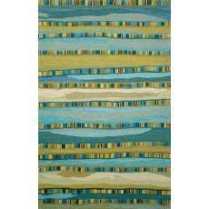 Liora Manne Seville Mosaic Stripe Indoor Rug - Blue, 9' by 12'