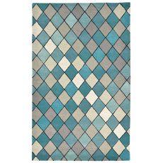 Diamond Aqua Rug 5' x 8'