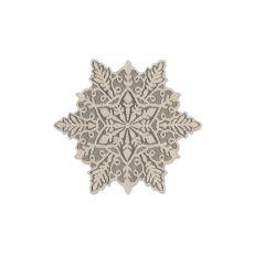 Silver Snowflake 15X13 Doily, Silver Sage