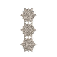 Silver Snowflake 15X39 Table Runner , Silver Sage