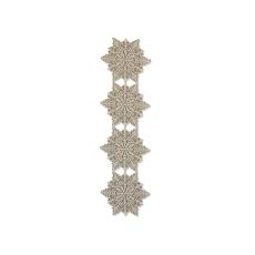 Silver Snowflake 15X52 Table Runner , Silver Sage