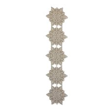 Silver Snowflake 15X65 Table Runner , Silver Sage