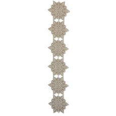 Silver Snowflake 15X78 Table Runner , Silver Sage