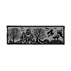 Spooky Hollow 14X40 Table Runner, Black