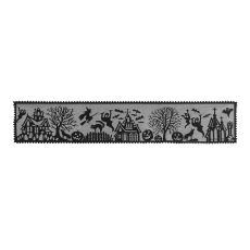 Spooky Hollow 14X72 Table Runner, Black