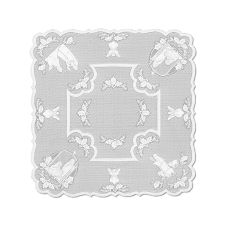 Silent Night 45X45 Table Topper , White