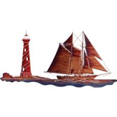 Sailing Home Metal Wall Art