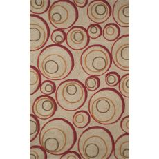 Liora Manne Spello Hoops Indoor/Outdoor Rug - Red, 5' by 7'6""