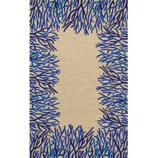 Liora Manne Spello Coral Bdr Indoor/Outdoor Rug - Natural, 5' by 7'6""