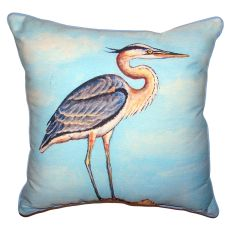 Blue Heron On Stump Small Outdoor Indoor Pillow