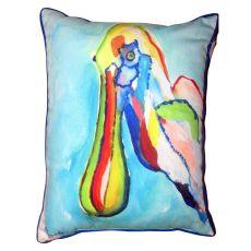 Spoonbill Head Small Outdoor Indoor Pillow