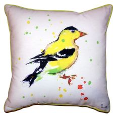 Betsy'S Goldfinch Small Outdoor Indoor Pillow