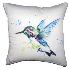 Green Hummingbird Small Outdoor Indoor Pillow