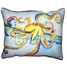 Crazy Octopus Small Outdoor Indoor Pillow