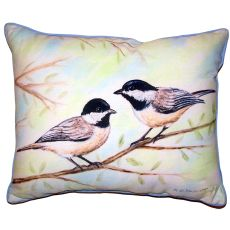 Dick'S Chickadees Small Outdoor Indoor Pillow