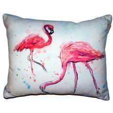 Funky Flamingos Small Outdoor Indoor Pillow