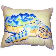 Loggerhead Turtle Small Outdoor Indoor Pillow