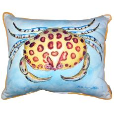 Calico Crab Small Outdoor Indoor Pillow