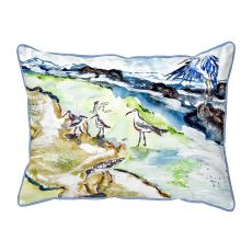 Sandpipers & Heron Small Pillow 11X14