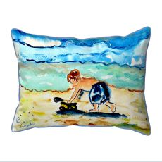 Boy & Toy Small Outdoor Pillow 11X14