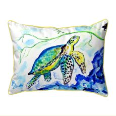 Yellow Sea Turtle Small Outdoor Pillow 11X14