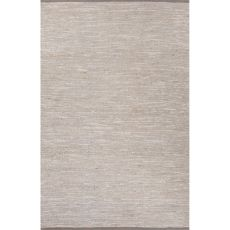Naturals Solid Pattern Gray Jute And Polyester Area Rug (9X12)