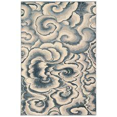 "Liora Manne Soho Clouds Indoor Rug Blue 5'3""x7'6"""