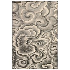 "Liora Manne Soho Clouds Indoor Rug Charcoal 6'6""x9'4"""