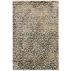"""Liora Manne Soho Leopard Indoor Rug Black 5'3""""x7'6"""""""