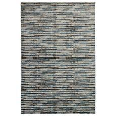 "Liora Manne Soho Stripe Indoor Rug Blue 6'6""x9'4"""