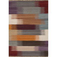 Flatweave Tribal Pattern Multi/Red Wool Area Rug (9X12)