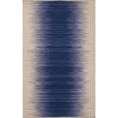 Flatweave Abstract Pattern Blue/Ivory Wool Area Rug (9X12)