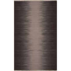 Flatweave Abstract Pattern Gray/Brown Wool Area Rug (8X10)