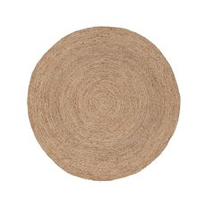 Naturals Solid (And Round) Pattern Neutral/Ivory Jute Area Rug (8X8)