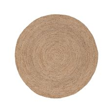 Solids & Heathers Pattern Jute Spiral Area Rug